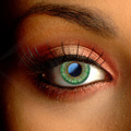Color Vision Natural Green Floral Contact Lenses