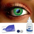Green One Tone Contact Lenses Complete Set