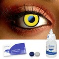 Saw Yellow Halloween Contacts Complete Set