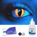 Scary UV Red Dragon Contact Lenses Complete Set