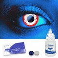 Scary UV White Demon Contact Lenses Complete Set