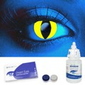 UV Yellow Cat Contact Lenses Complete Set