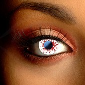 Blood Splatter Scary Contact Lenses