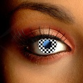 Checkered Contact Lenses