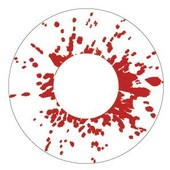 Color Vision Blood Splatter Scary Contact Lenses