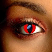Color Vision Red Cat Eye Scary Contacts