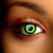 Color Vision Scary Green Werewolf Contact Lenses