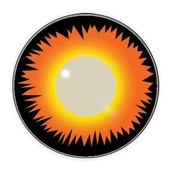 Color Vision Scary Orange Werewolf Contact Lenses