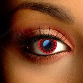 Color Vision Scary Red Web Contact Lenses