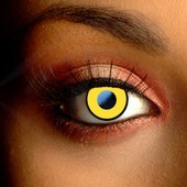 Color Vision Yellow Manson Scary Contact Lenses