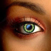 Feather Green Contact Lenses