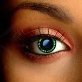 Green Manga Contact Lenses