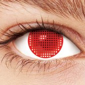 Scary Red Screen Contact Lenses