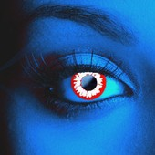 Scary UV White Demon Contact Lenses