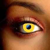 Yellow Block Contact Lenses