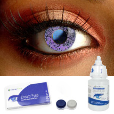 Amethyst Crystal Contact Lenses Complete Set