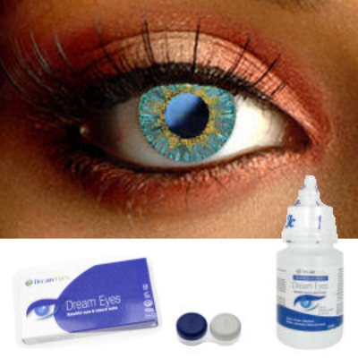 Platinum Silver Contact Lenses