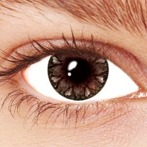 Black Snowflake Contact Lenses