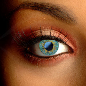 Color Vision Aqua Tri-Tone Contact Lenses