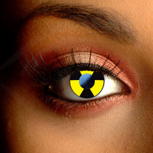Color Vision Biohazard Halloween Contact Lenses