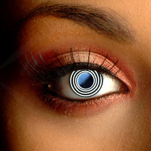 Color Vision Black Scary Spiral Contact Lenses