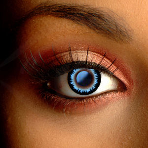 Color Vision Feather Blue Contact Lenses