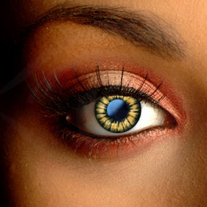 Color Vision Golden Brown Circle Lenses