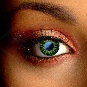 Color Vision Green Shimmer Contact Lenses