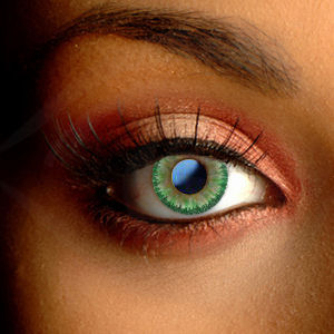 Color Vision Green Tri-Tone Contact Lenses