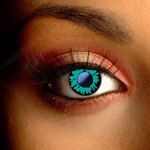 Color Vision Green Werewolf Scary Contact Lenses