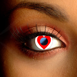 Color Vision Heart Contact Lenses
