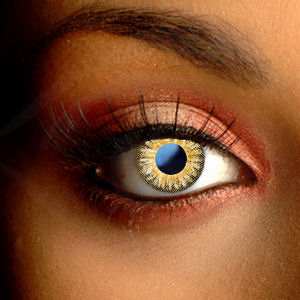 Color Vision Hurricane Brown Color Contact Lenses