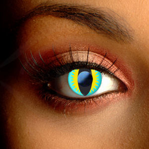 Color Vision Lizard Scary Contact Lenses