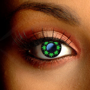 Color Vision Multi Cannabis Leaf Contact Lenses
