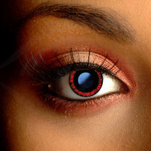 Color Vision Red Manga Scary Contact Lenses