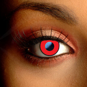 Color Vision Red Manson Scary Contact Lenses
