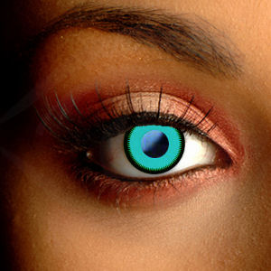 Color Vision Scary Saw Green Halloween Contacts