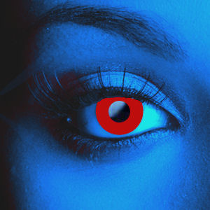 Color Vision Scary UV Red Contacts