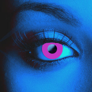 Color Vision Scary UV Violet Contacts