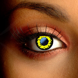 Color Vision Scary Werewolf Yellow Contact Lenses