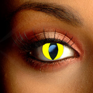 Color Vision Yellow Cat Eye Scary Contacts