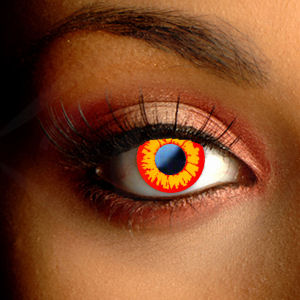 Flame Halloween Contact Lenses
