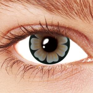Gray Daisy Contact Lenses