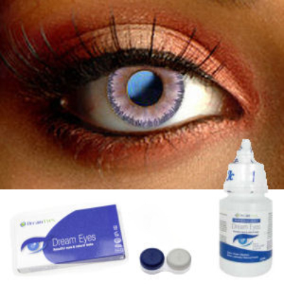 Natural Violet Floral Contact Lenses Complete Set