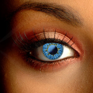 Ocean Gold Blue Contact Lenses