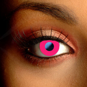 Pink Block Contact Lenses