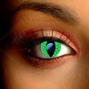 Scary Green Lizard Contact Lenses