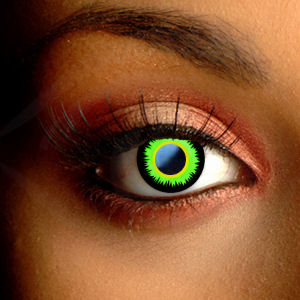 Scary Green Werewolf Contact Lenses