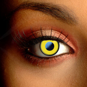 Scary Saw Yellow Halloween Contacts