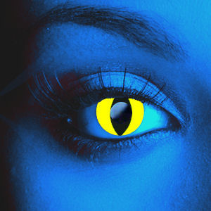 UV Yellow Cat Contact Lenses